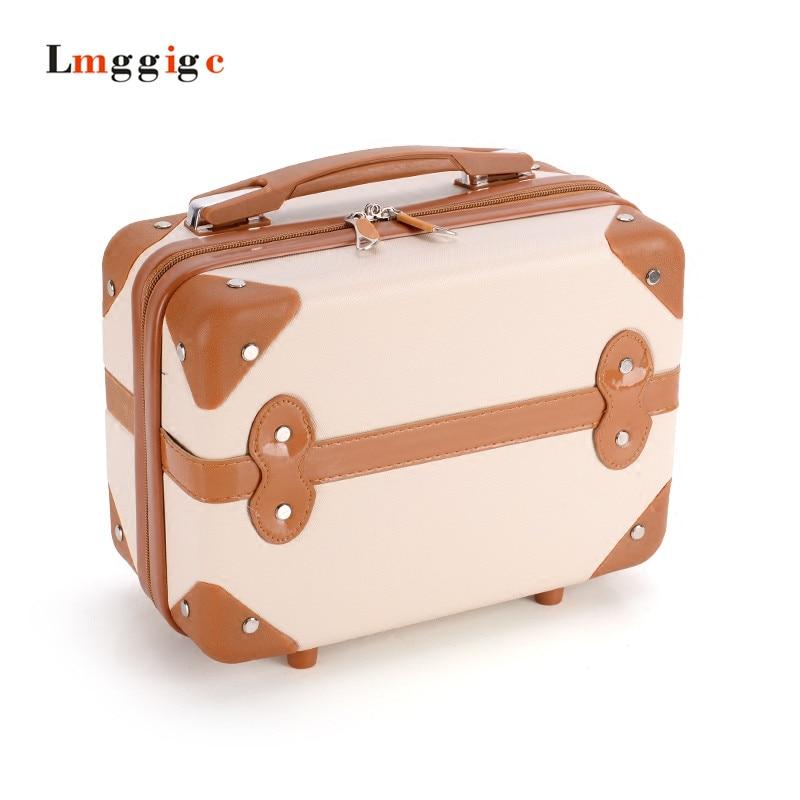 vintage makeup bag  box  Wash Toiletry case Beauty Portable Travel Bag