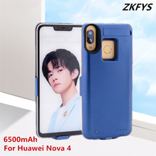 Power Case 6500mAh External Power Bank Phone Charger Battery Case For Huawei Nova 4 Anti-drop Back Clip Battery Charger Cases