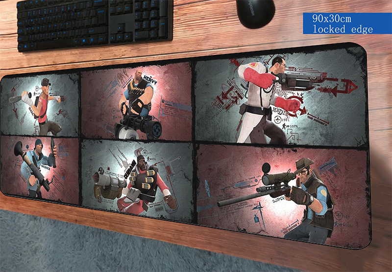 team fortress 2 mouse pad 900x300mm mats gadget Computer mouse mat gaming accessories laptop mousepad keyboard games pc gamer