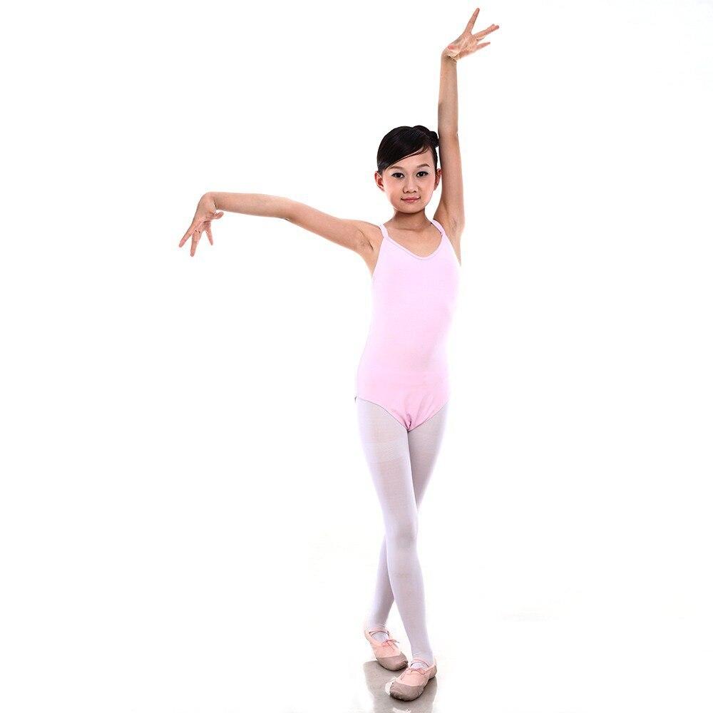 6-12Y Kids Children Bodysuit Jumpsuit Leotard Girls Ballet Dance Wear Gymnastics