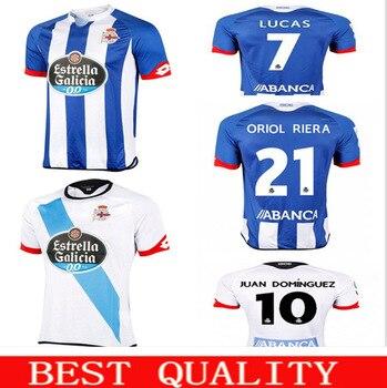 Nuevo Deportivo La Coruna 15/16 hogar lejos camisetas de futbol azul ...