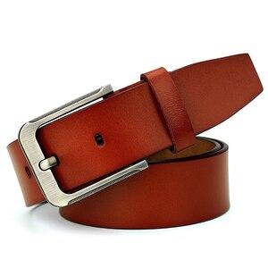 Image 5 - Catelles Mens Genuine Leather Belt Male Belts Buckle for Men Designer Belts High Quality Leather Belt/Strap Man Pin Buckle 1935