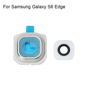 Image 3 - 1 set לסמסונג גלקסי S6 קצה אחורי מצלמה אחורית מסגרת מחזיק זכוכית עדשת החלפת חלקים