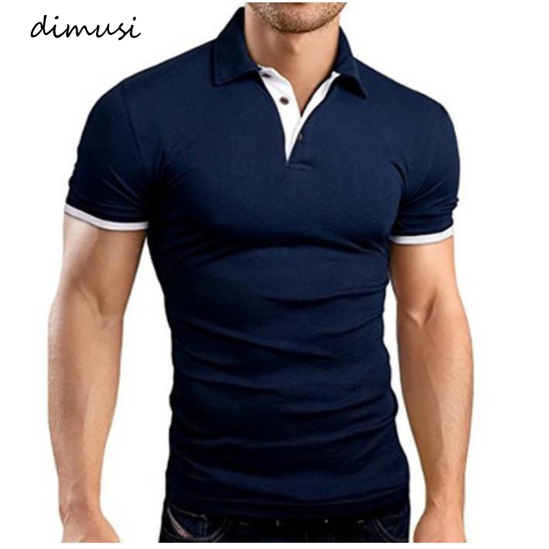 DIMUSI Men Tops Shirts Summer Fashion Men Short Sleeve Slim   Polos   Shirts MaleTops Tees Para Hombre Brand Clothing 5XL,YA910