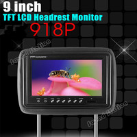 2 Pcs X 9.0 Inch Auto Multimidia Video Car Headrest Monitor TFT LCD Player Head Rest Screen / tela encosto carro som automotivo
