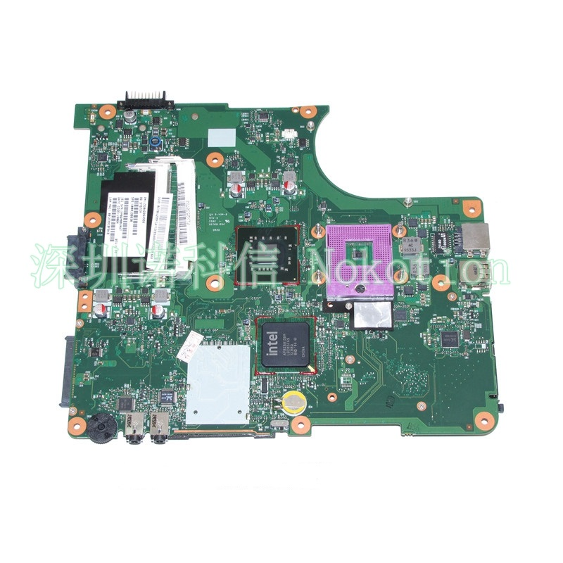 NOKOTION SPS V000138830 PN 1310A2264932 For toshiba satellite L300 L305 laptop motherboard 6050A2264901-MB-A03 GM45 DDR2 nokotion for toshiba satellite c850d c855d laptop motherboard hd 7520g ddr3 mainboard 1310a2492002 sps v000275280