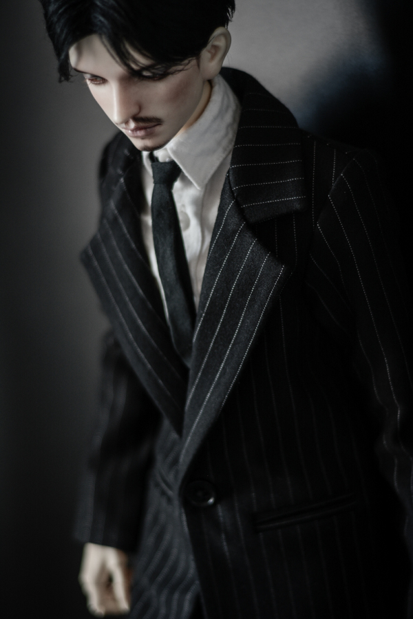 BJD Doll Clothes President Striped Coat Set 1/4 1/3 SD MSD SSDF Long Fashion Uncle Coat Doll Accessories