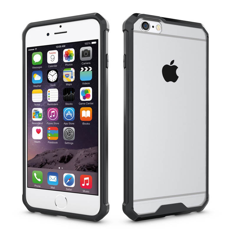 Anti-Shockproof Armor Case For Iphone 6Plus Dual SIM Clear Back Panel Cover+TPU Crystal Case For Iphone6 Plus Standard Case