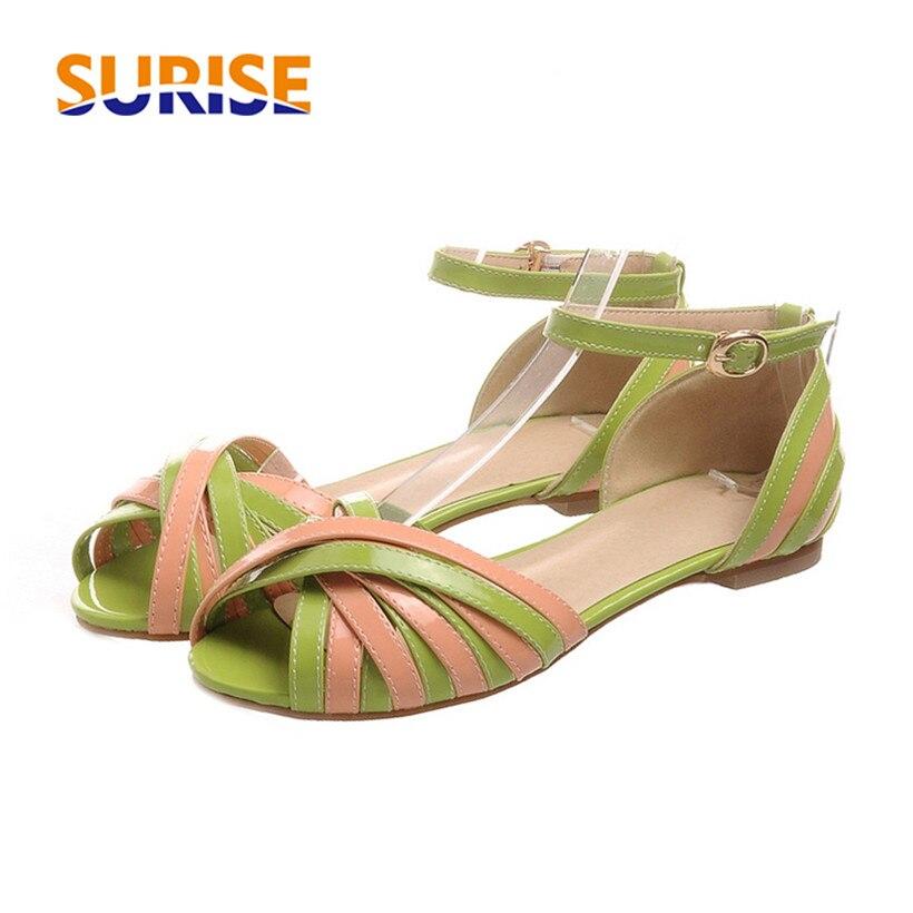 Plus Large Size Low Block Heels Women Sandals Open Toe Vintage Causal Party Dress Mixed Color Summer Ankle Strap Ladies Sandals все цены