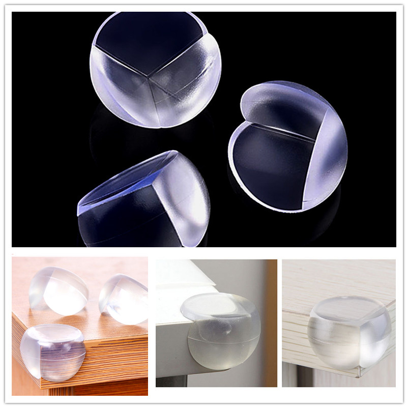 Silicone Corners 4PCS Baby Edges Furniture Trim Soft Overlays On Corners Children's Furniture Edge Banding Baby Safety Protector