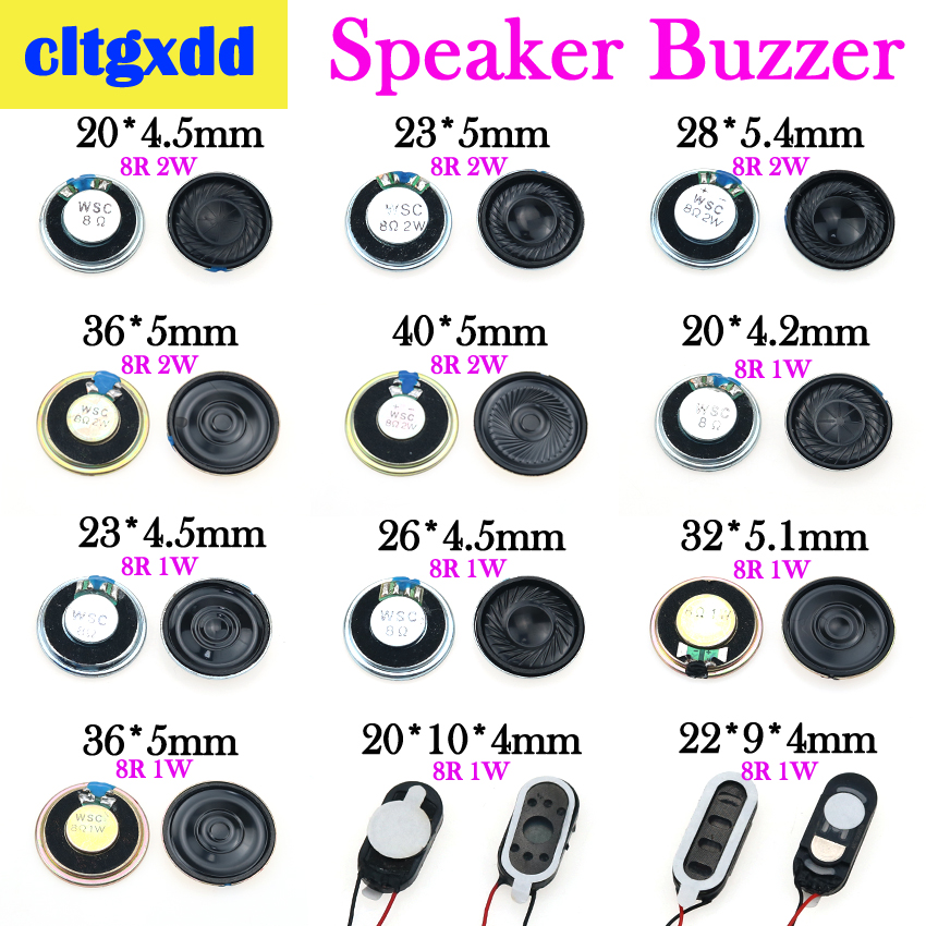 Cltgxdd 1W 2W 8R Magnetic Speaker Player Horn 20 23 28 32 36 40 Mm Mini Loudspeaker Buzzer For Cell Phone Radio Game Console