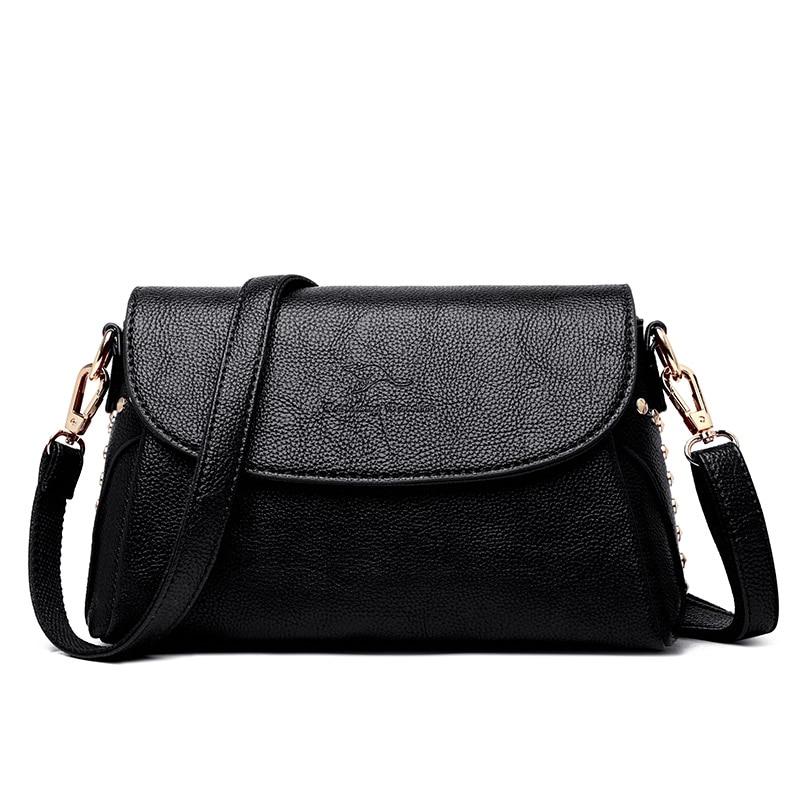 Cloth Shake Light luxury Women PU Leather Handbags Lady Fashion Rivet Crossbody Bags Women Brand Casual Designer Messenger Bag