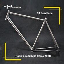 Free shipping !!! TiTo titanium  road bike frame 700C titanium road bicycle internal shifter housing