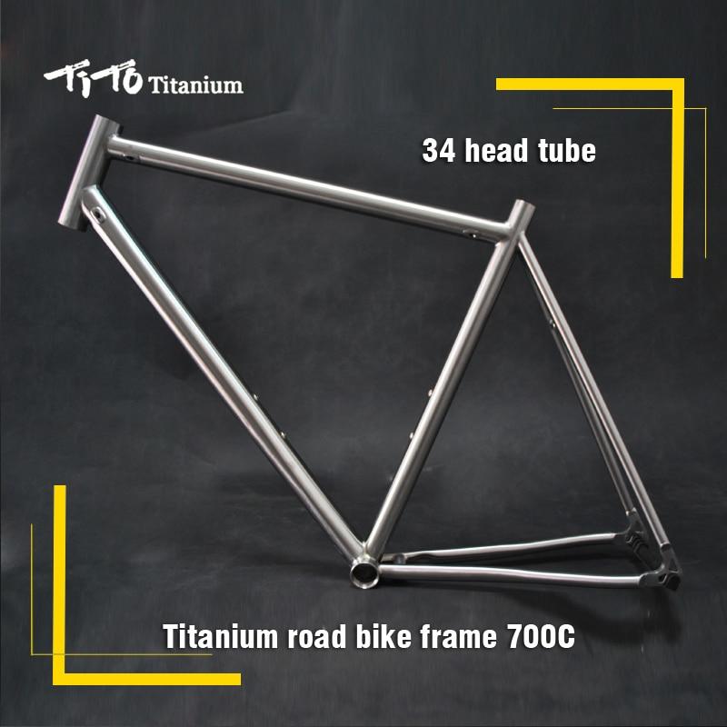 Free shipping !!! TiTo titanium road bike frame 700C titanium road bicycle internal shifter housing pure titanium full rim frame men male eyeglasses titanium sunglasses frame