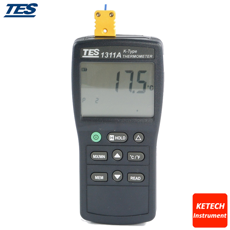 TES1311A Digital Industrial K Type Thermocouple Thermometer Temperature digital dual input k type thermocouple thermometer industrial thermometer temperature reader sensor 50 to 1300 tes 1303
