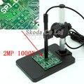 Цифровой микроскоп 1000X 6LED 2 Мп  портативный держатель для микроскопа  бесплатная доставка