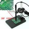 Free Shipping Newest 1000X 6LED 2MP USB Microscope Digital Microscope Portable Holder Base Pen Microscope