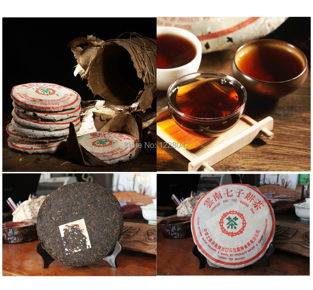 Made in1978 ripe pu er tea,357g oldest puer tea,ansestor antique,honey sweet,,dull-red Puerh tea,ancient tree freeshipping(China (Mainland))