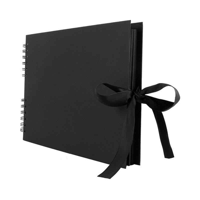 80 Pages Photo Album Scrapbook For Photoalbum Craft Paper Diy Scrapbooking Wedding Photo Album Anniversary Gifts Black