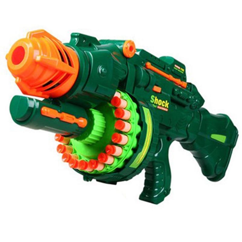 Electric Toy Gun Toy Guns 20 pcs Soft Bullet Big Gun Launchers CS Outdoor  Toys Kids Children's Birthday Gift-in Toy Guns from Toys & Hobbies on ...