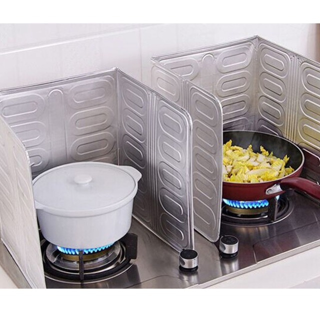 2pcs oil splash screen guard kitchen accessories cooking frying pan oil splatter screen cover. Black Bedroom Furniture Sets. Home Design Ideas