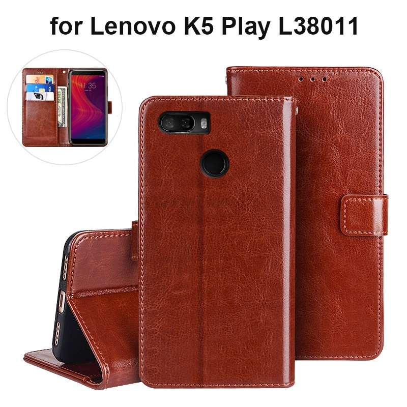 Free Shipping For <font><b>Lenovo</b></font> K5 Play Case 5.7'' Business Flip Wallet Leather Phone Case Fundas for <font><b>Lenovo</b></font> K5 Play <font><b>L38011</b></font> Cover Capa image