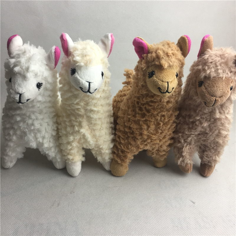10pc Lot Mixed 23CM Alpaca Lama Plush Toy Doll Kids Japanese Soft Plush Alpacasso Christmas Birthday