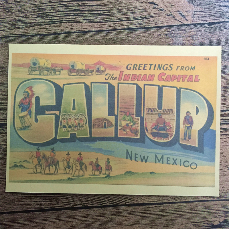 new arrival rmcb  vintage kraft paper quotnew mexicoquot pictures for wall poster: new mexico home decor