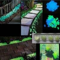 Najnowszy Dekoracyjne Luminous świecić w Ciemności Pebbles Kamień Kamienie dla Chodnik 2 Kolorów Opcja