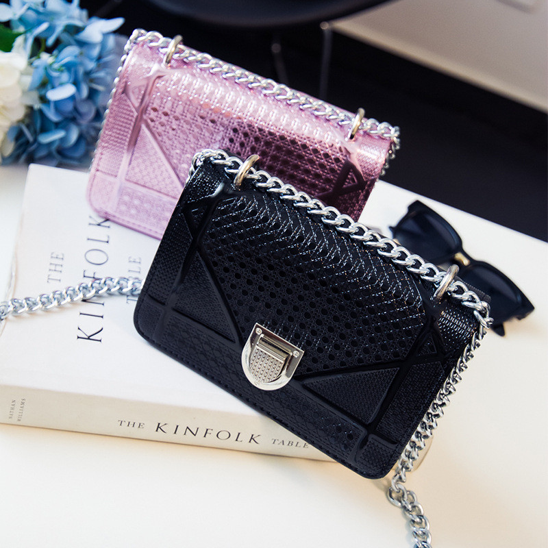 Mini Handbag Women PU Leather Chain Shoulder Bag for Teenager Girls Evening Messenger Crobody Small Bag Cover Luxury Flap Clutch striped fashion design lingge pu leather mini party clutch bag ladies evening bag chain purse mini shoulder bag handbag flap