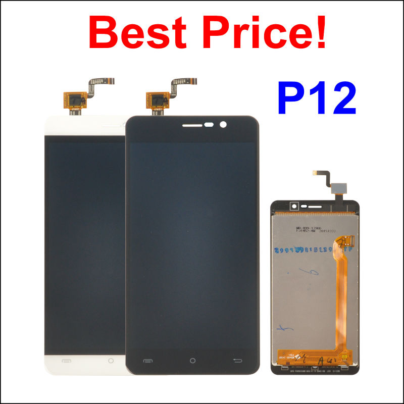LCD Display +Digitizer Touch Screen Assembly For CUBOT P12 Z100 Cellphone 5.0 Black / White color In Stock!