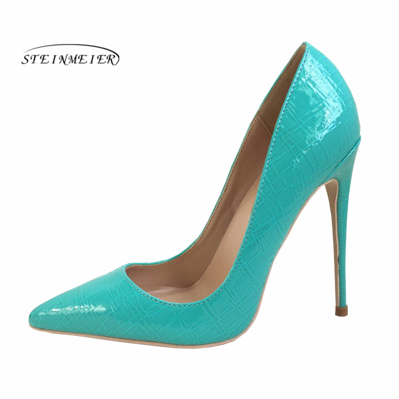 Zapatos Puntiaguda 12cm Verde Alto 10cm Mujer Fiesta De Sexy Para Punta Primavera Boda Tacón 8cm 2019 UwdTqg77