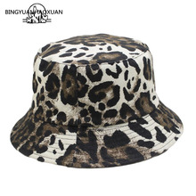 Free Shipping 2019 New Fashion Summer Leopard Animal Printed Bucket Hats Fishing Cap Women Men