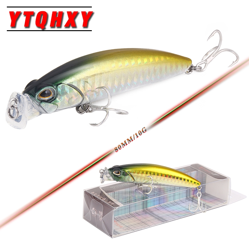 YTQHXY Popper Fishing Lure 80mm 10g Topwater Isca Artificial Hard Bait Pesca Leurre Peche Crankbaits Carp Fishing Tackle YE-475 trulinoya minnow fishing lures 80mm 8g hard bait carp fishing bass lure swimbait sea fishing isca artificial fly fishing tackle
