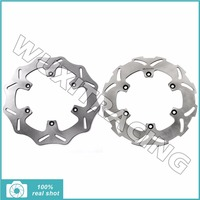 2Pcs Motorcycle New Full Set Front Rear Brake Discs Rotors For KTM 300 350 380 400