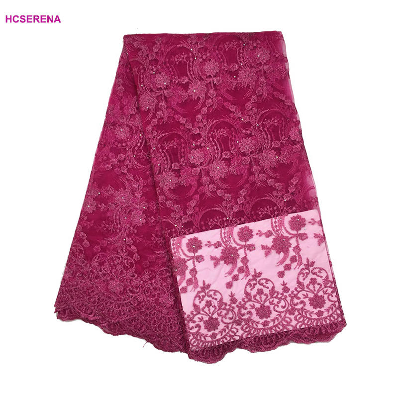 Sensible Promotion Sale Home & Garden 1yard/lot By Epacket 2018 High Quality Nigerian French Lace African Lace Fabric For Party Dress Free Shipping New Varieties Are Introduced One After Another