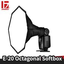 JINBEI Universal 20cm Octagon On camera Flash Diffuser Foldable Softbox For Flash Speedlite Portrait Photo Studio Accessories