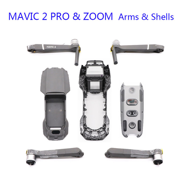 New Original DJI Mavic 2 PRO/ZOOM Arms Body Shell Middle Frame Bottom Shell Upper Cover Mavic 2 Replacement Repair Spare Parts