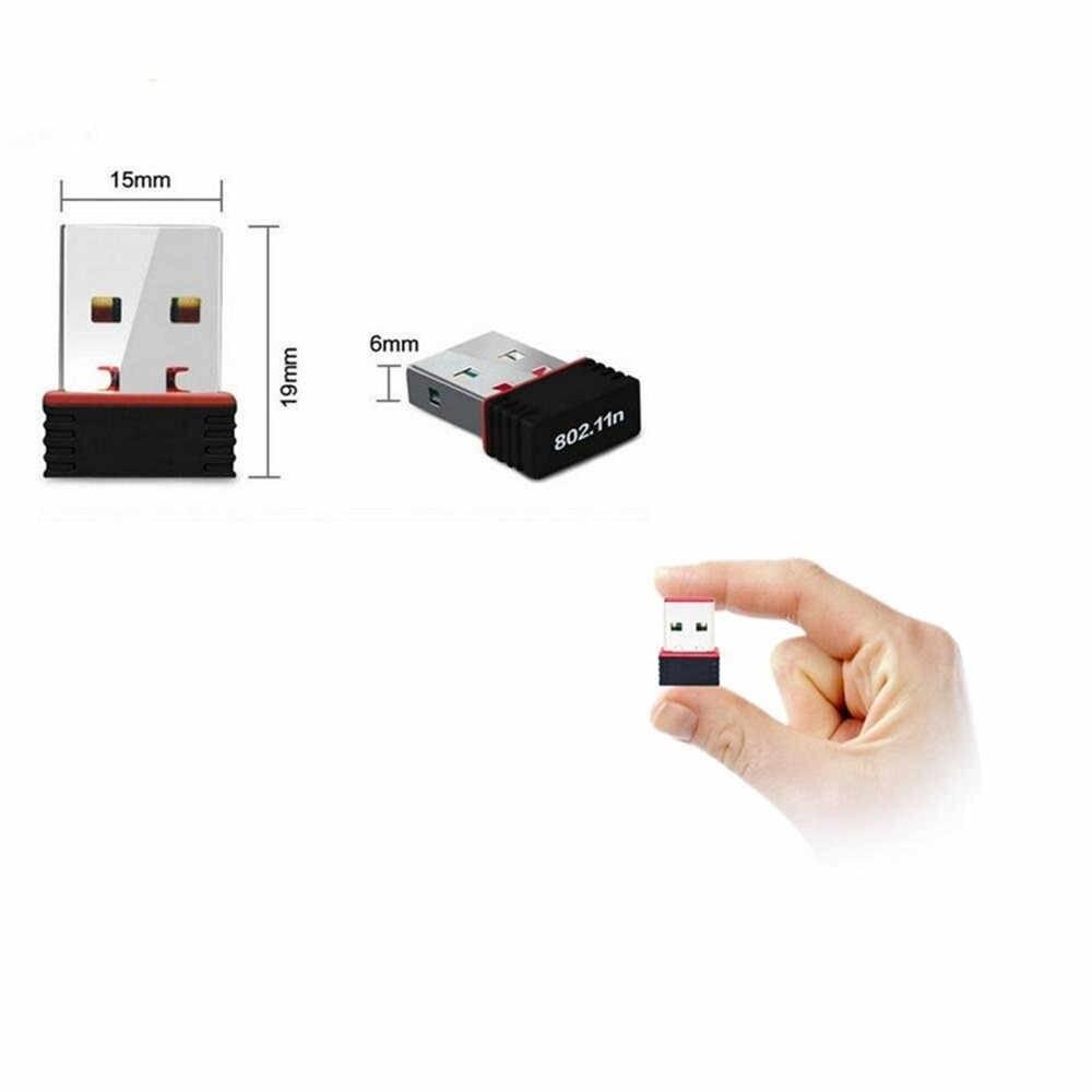 Darmowa sterownik bezprzewodowy Mini USB 2.0 adapter Wifi 802.11n 150 Mbps Wifi adapter sieci dla systemu Windows Linux PC