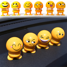 Shaking Head Toy Car Ornaments Bobblehead Nod Dolls Cute Cartoon Funny Emoji Wobble Head Lovely Action Figure Stress relief toys