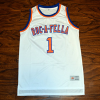 MM MASMIG Jay Z S Carter 1 Roc A Fella Basketball Jersey Stitched White
