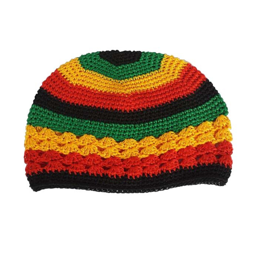 5pcslot handmade crochet kufi knit rasta reggae beanie hat cotton 5pcslot handmade crochet kufi knit rasta reggae beanie hat cotton knitted cap adult size in skullies beanies from mens clothing accessories on bankloansurffo Choice Image