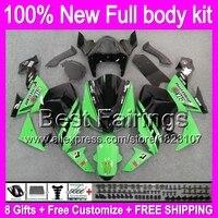 Fairing Body For KAWASAKI NINJA ZX10R 06-07 Green black ZX 10R 10 R 7B17 ZX-10R Factory green 06 07 2006 2007 +decal Body