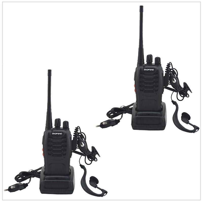 Jumelé Paquet 2 pcs/Lot Baofeng Talkie Walkie à Deux voies Radio BF-888S UHF 400-470 MHz 16CH Portable Deux-way Radio avec Écouteur