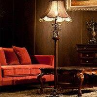 Resin American Style Floor Lamps Led Bulb Lamp E27 110V 220V European Style Living Room Bedroom Iron Fashion Floor Lamp Led