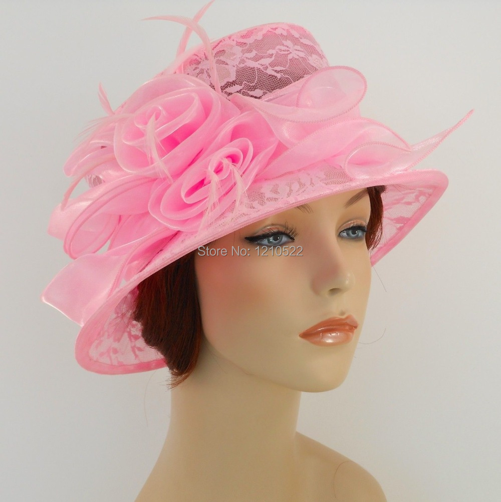 New woman church hat kentucky derby wedding cocktail party for Dress hats for weddings