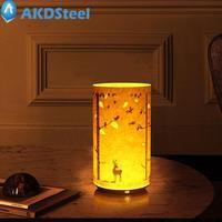 AKDSteel USB Chiński Klasyczny Pergamin Nocna Lampka nocna Lampa Stołowa LED Pilot Święta Dekoracji Układ Ornament