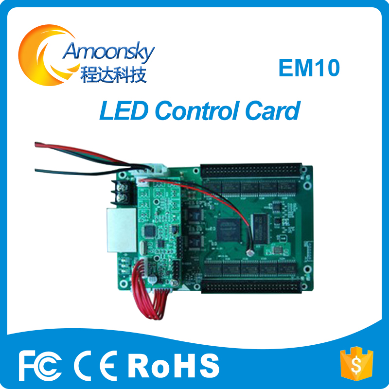 Creative Display LED Control System Multi-function Card Mooncell EM10 Detect Temperature Humidity Brightness Controller EM10Creative Display LED Control System Multi-function Card Mooncell EM10 Detect Temperature Humidity Brightness Controller EM10