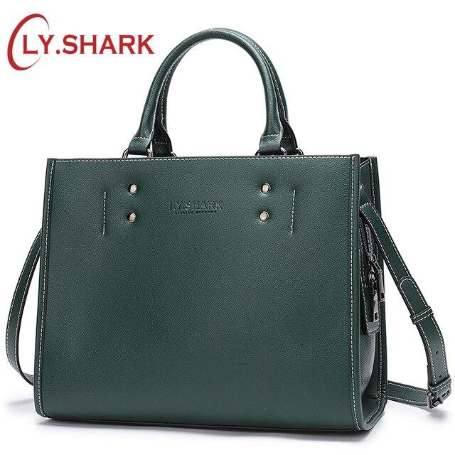 LY. акула большая сумка женская натуральная кожа бренд сумка на плечо сумочка женская черная зеленая сумочки женские сумки из натуральной ко...