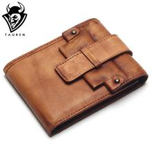 TAUREN Handmade Retro Wallet For Mens Long Woman Wallets Hasp Wallet Retro Clutch For Men Coin Purse Card Holders Brown Wallet
